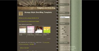 Grunge Style OverBlog Template