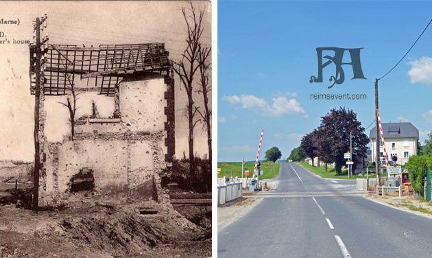Ruines de la Maison du Garde Barrière à Sillery - 1918
