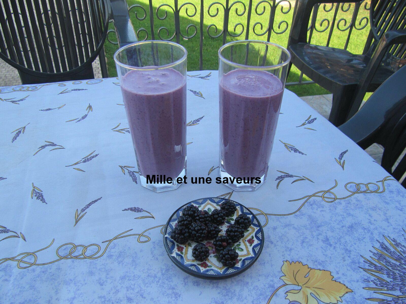 milk shake mûre et banane