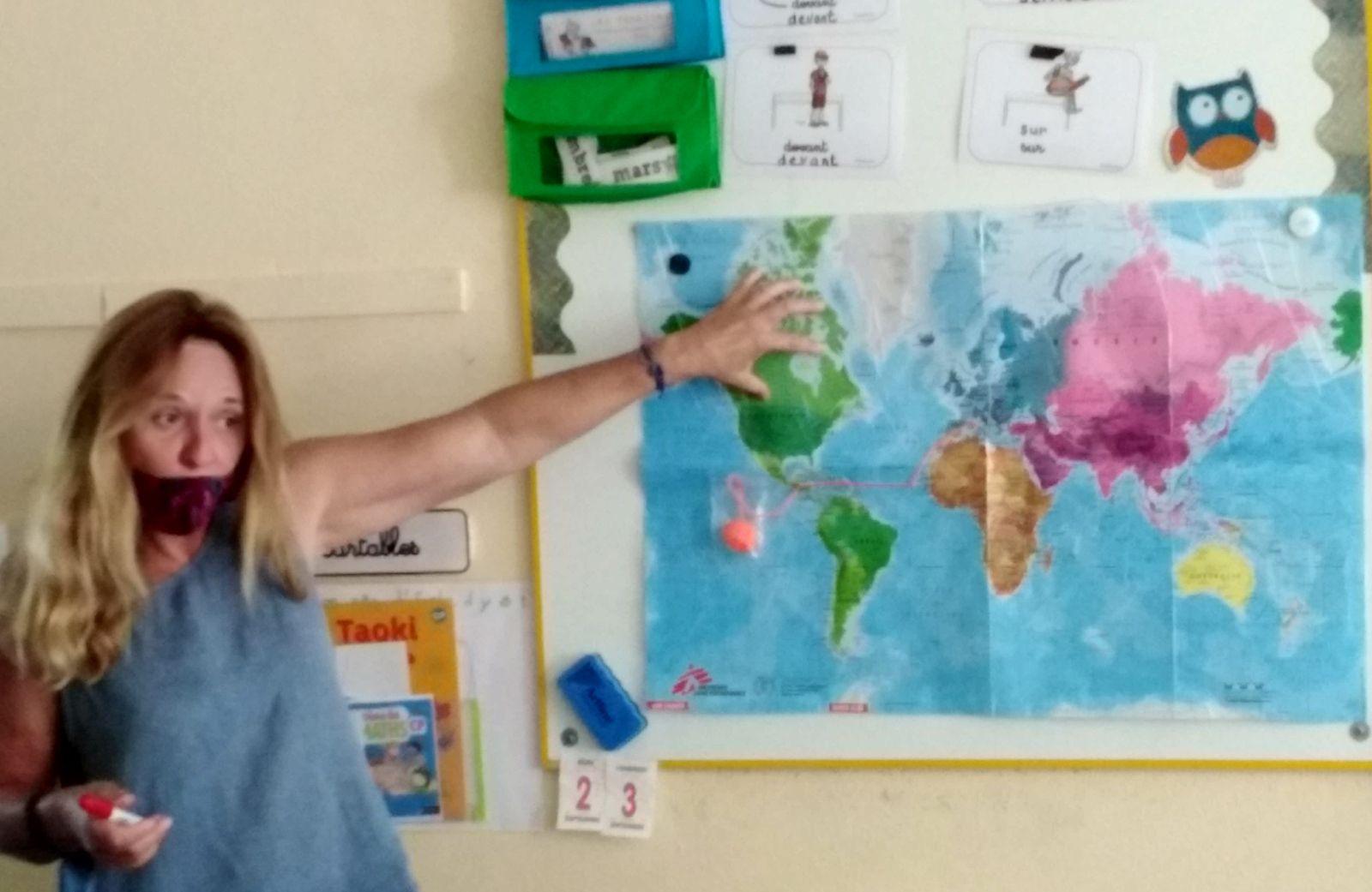 """Les premières classes entrent dans le projet """"Les 3 M autour du monde""""."""