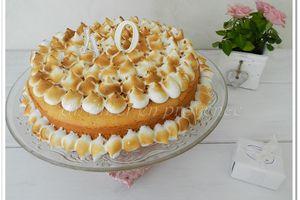 "Lemon Chiffon Cake (gâteau mousseline au citron) ... Happy Birthday ""ma"" Sotis !"