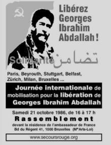 BRUXELLES - Journée Internationale Pour la Libération de Georges Ibrahim Abdallah