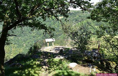 Table d'orientation du site de la roche à Allassac