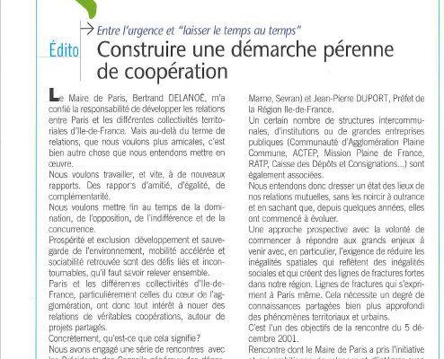 Extramuros, une publication pour penser les relations Banlieues/Paris & le Grand Paris/la métropole. années 2000