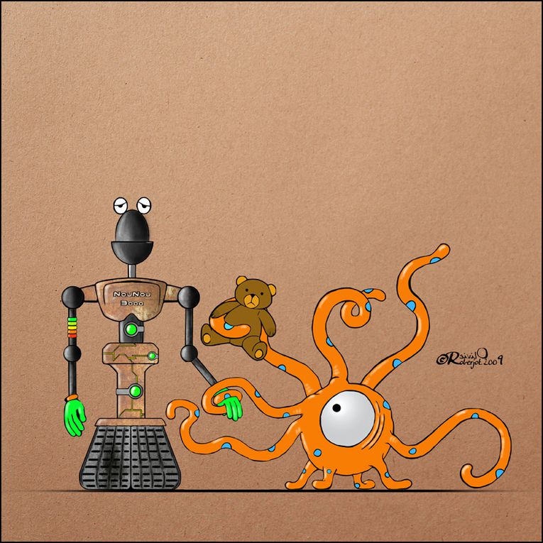 Des Extra-terrestre robots ou des robots Extra-terrestres, des bidules, des machins, des trucs...Bonne visite