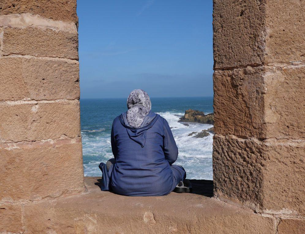 Habitants d'Essaouira, Maroc 2020.