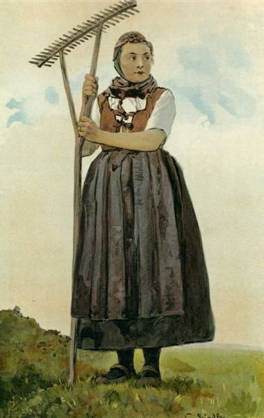 Regards sur les costumes portés en Alsace à travers les aquarelles de Spindler et photos diverses.