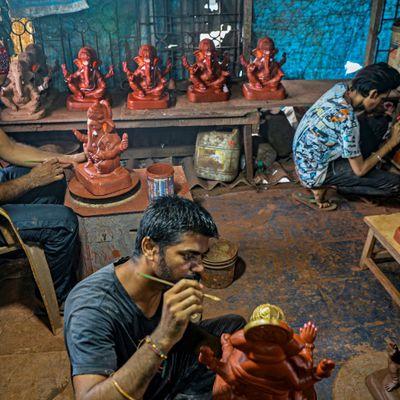 Des statuettes de Ganesh écolos pour Ganesh Chaturthi