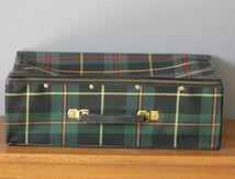 Valise souple écossaise Années 70 - Vintage