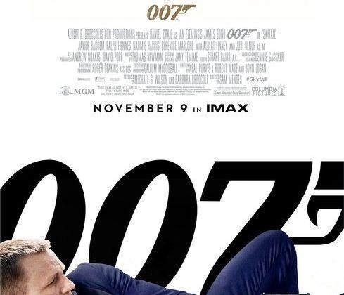 Le film Skyfall atteint le milliard de dollars de recettes mondiales.