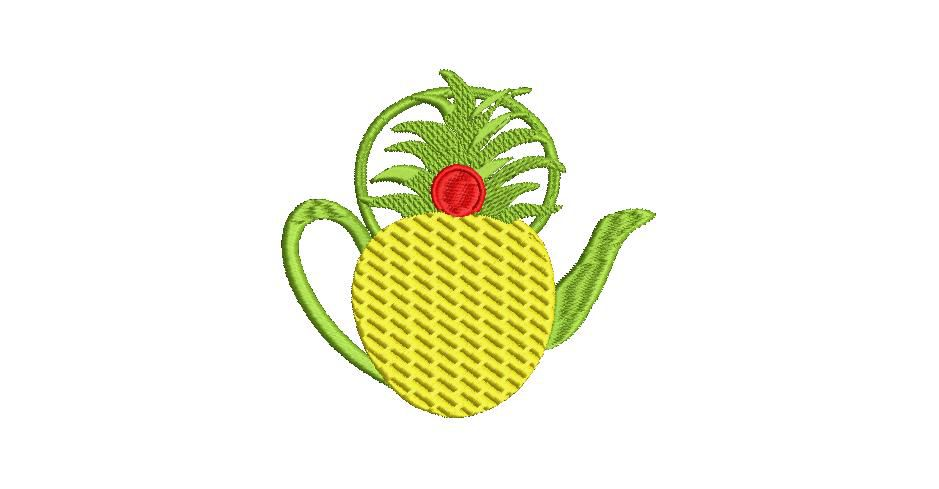 BRODERIE ANANAS THEIERE
