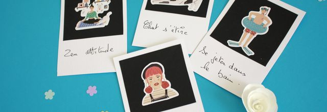 Portraits de famille le DIY  façon polaroïd (idée fête des mères )!