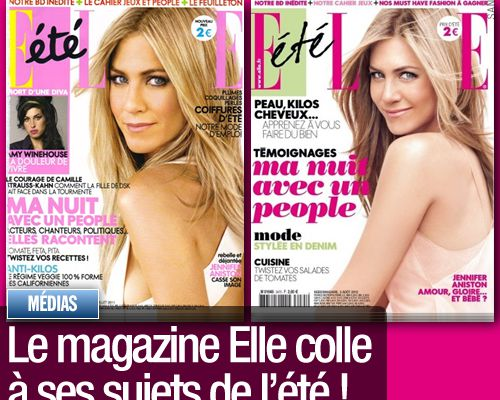 Le magazine Elle colle à ses sujets de l'été !