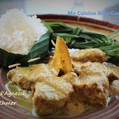 Curry Khmer à l'Agneau (Cambodge) - Ma Cuisine Bleu Combava