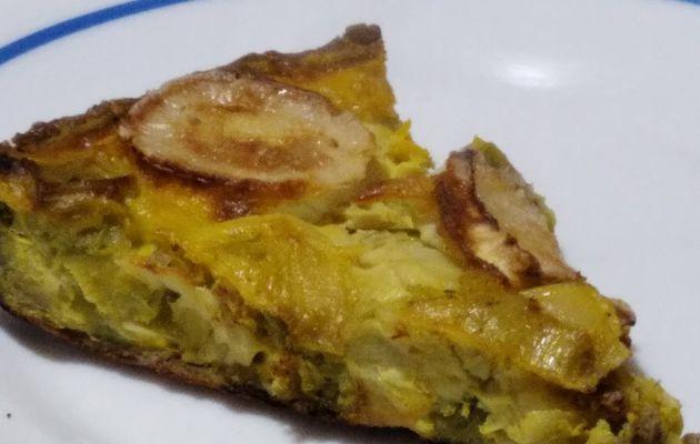 Une quiche sans gluten aux poireaux et au fromage de chèvre