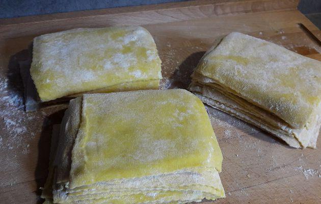 Pâte pour raviolis frits chinois et préparation maison au porc