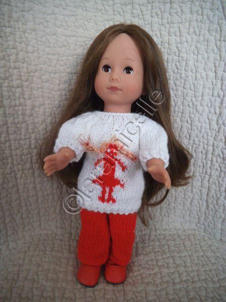 tuto gratuit poupée : pull jacquard en 3D