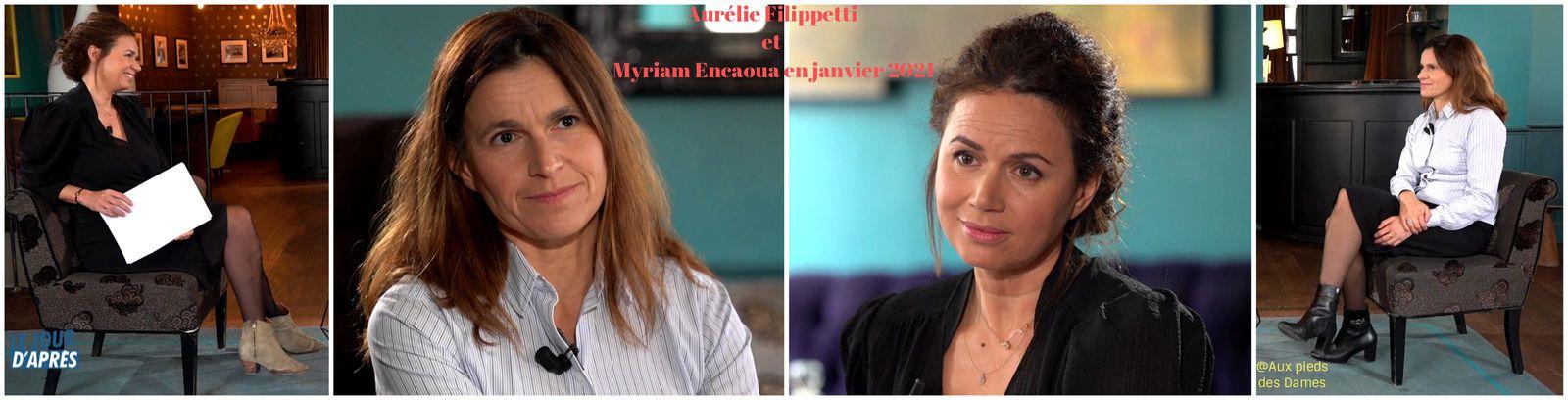 Aurélie Filippetti et Myriam Encaoua en janvier 2021. Interview. Talons