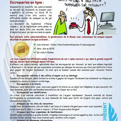 Gendarmerie : escroqueries en ligne