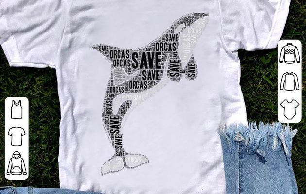 Official Save orcas killer whale Sea Panda shirt
