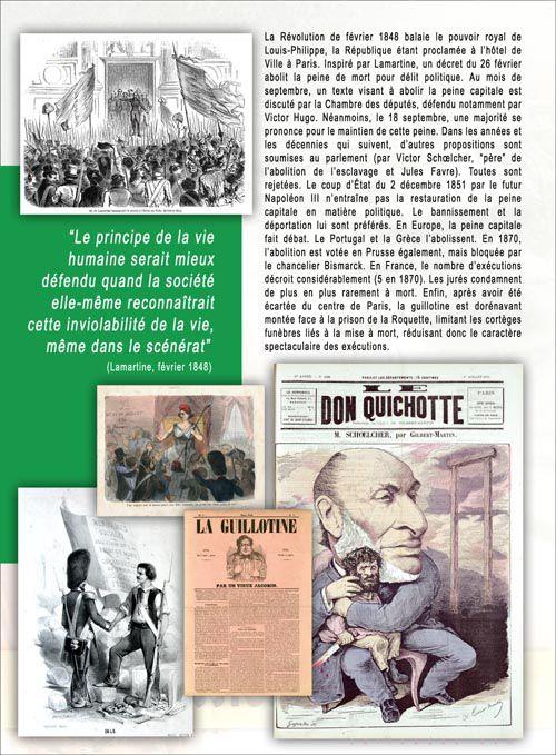 La Peine de mort de la guillotine à l'abolition : exposition itinérante à louer / imprimer