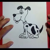 Como dibujar un perro paso a paso 24   How to draw a dog 24