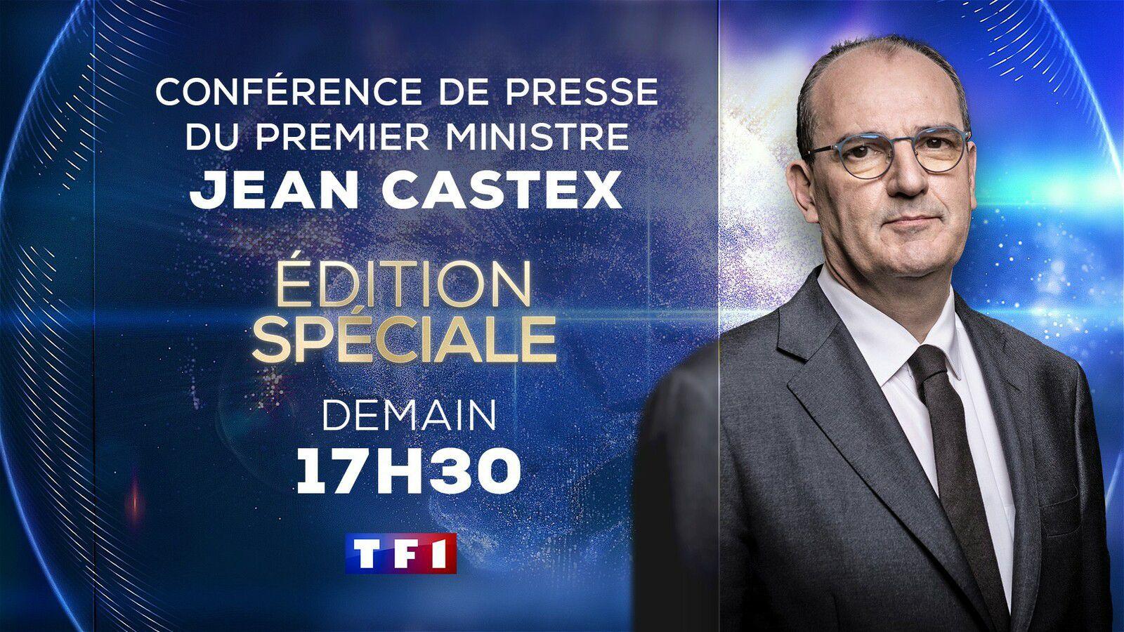 Covid-19 : conférence de presse de Castex et Véran jeudi à suivre sur TF1 et France 2