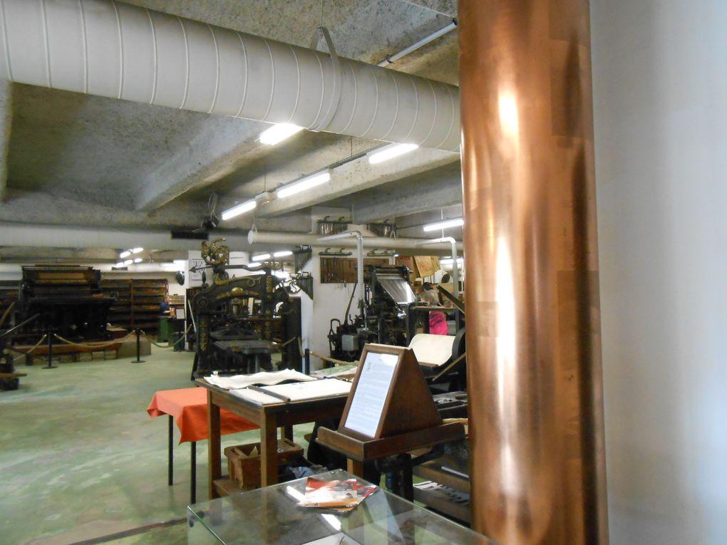 le musée ouvrait ses portes à la fête de l'estampes , présentation de taille-douce, d'eaux fortes et de lino
