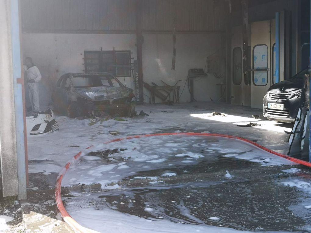Incendie dans une carrosserie à l'Ardoise