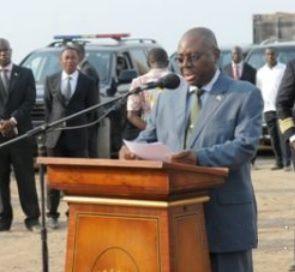 Vicente Eya Olomo, ministro delegado de Defensa Nacional de Guinea Ecuatorial.- El Muni.