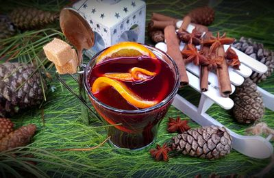 Vin chaud à l'orange