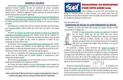 Le tract de SUD Collectivités Territoriales Hénin-Beaumont de février 2020 est en ligne
