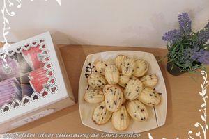 Madeleines au citron & pépites de chocolat