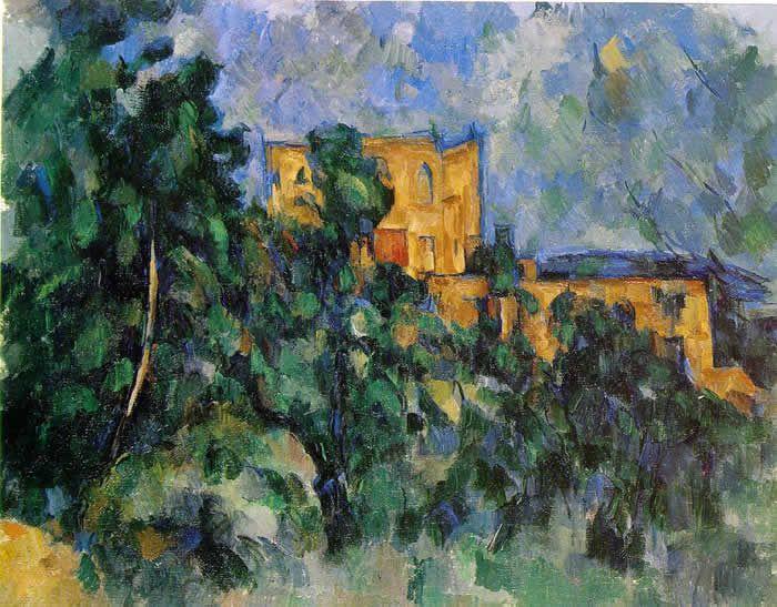 Château noir - Montagne Sainte-Victoire vue de la rue saint des Lauves