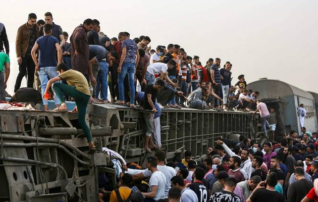 Nearly 100 hurt in Egypt train accident: Health ministry