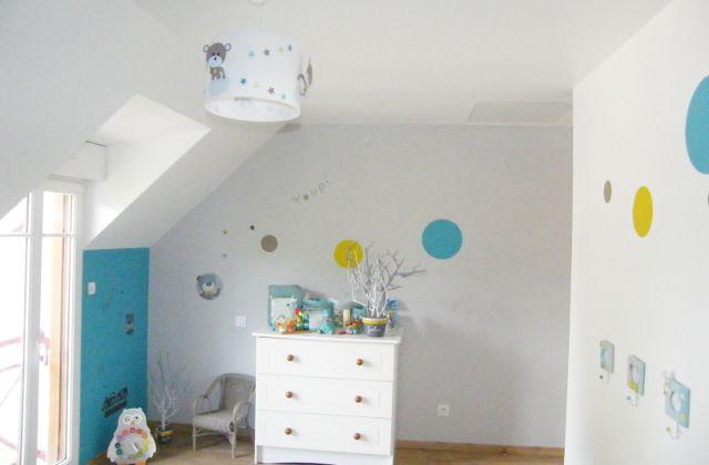 Chambre bébé ourson : Déco et luminaire
