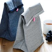 Button Lunch Bags