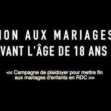"""RDC : Chant #2, """"Non au mariage avant l'âge de 18 ans"""""""