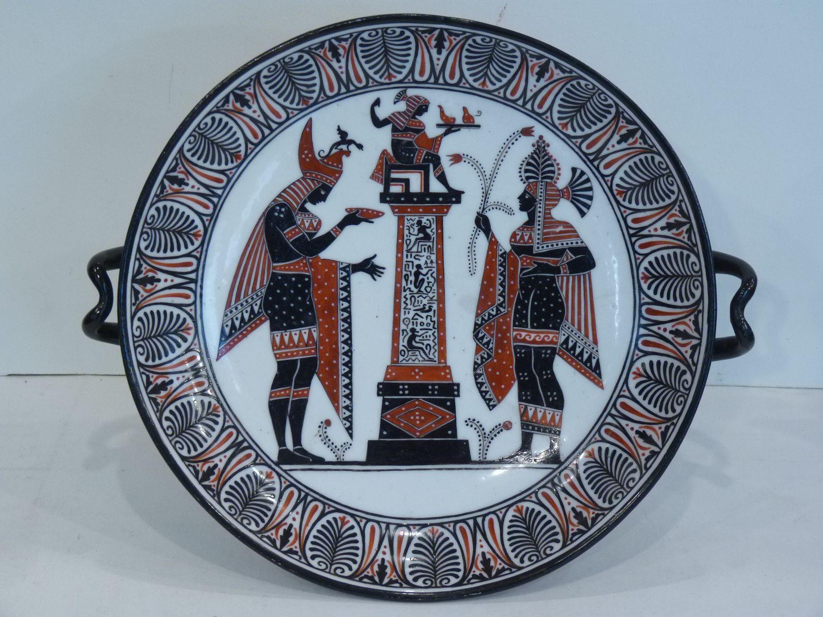 Rare Coupe à l'Antique en Porcelaine de Naples, Manufacture Biagio Giustiniani, Vers 1830