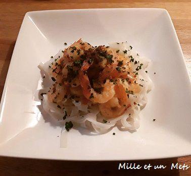 Crevettes sautées & sa sauce épicée