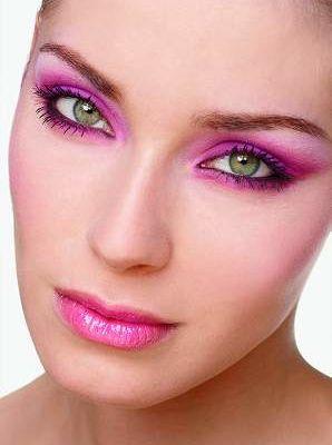 Augen Make-Up in Pink !