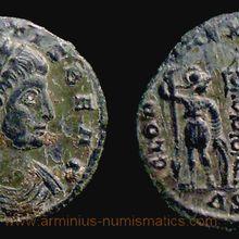 Constans Caesar, 335-336 AD., Siscia mint, Follis, RIC 255.
