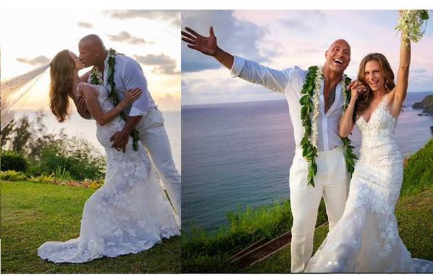 Dwayne 'The Rock' Johnson épouse sa petite amie de longue date, Lauren Hashian, à Hawaii (Photos)