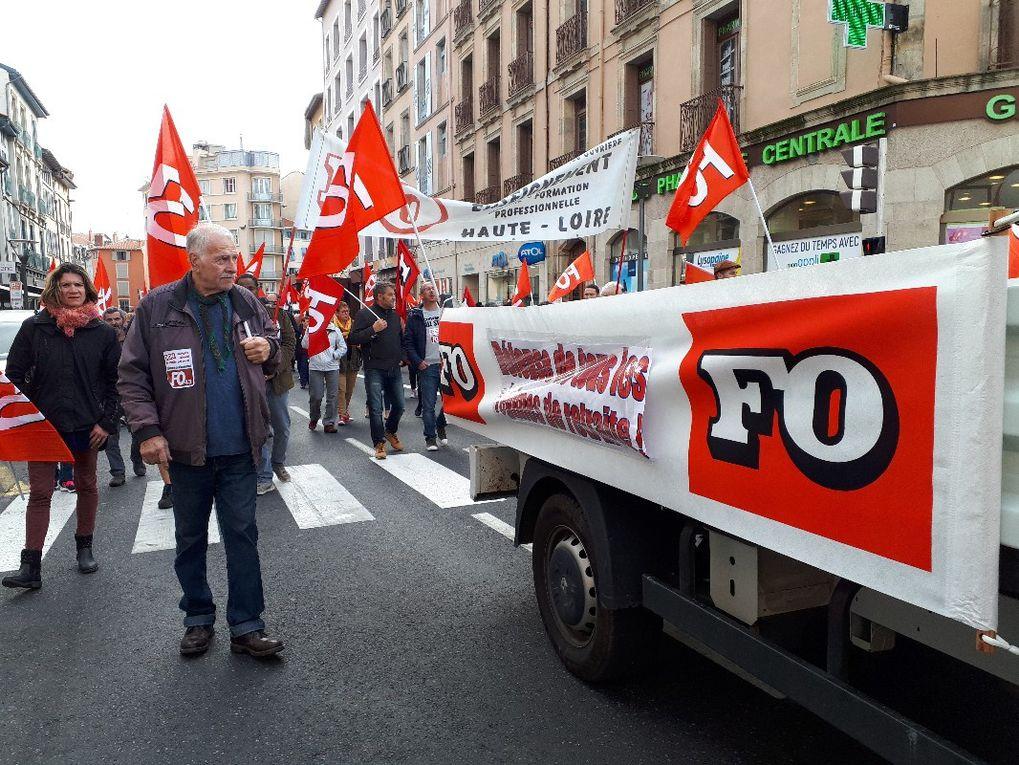 1500 manifestants au Puy le 9 octobre : un avertissement net