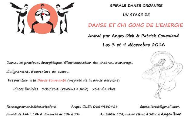 Danse spirale et Qi Gond à Angouleme