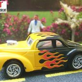 FORD COUPE - TOUGH CUSTOMER WILLYS - BACK BURNER - SERIE XV RACERS HOT WHEELS ELECTRIC CAR BATTERY - car-collector.net