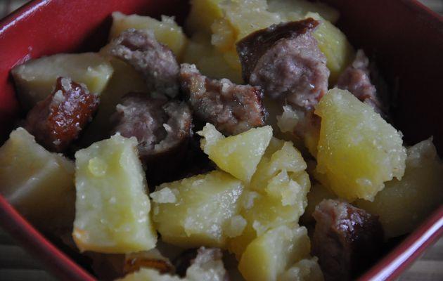 Pommes de terre saucisses fumées