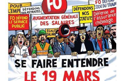 Tous ensemble le 19 mars pour défendre nos revendications