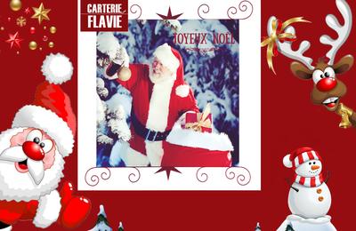 Ma carte de Noël - idée du jour 🙂 Carte double avec le Père Noël