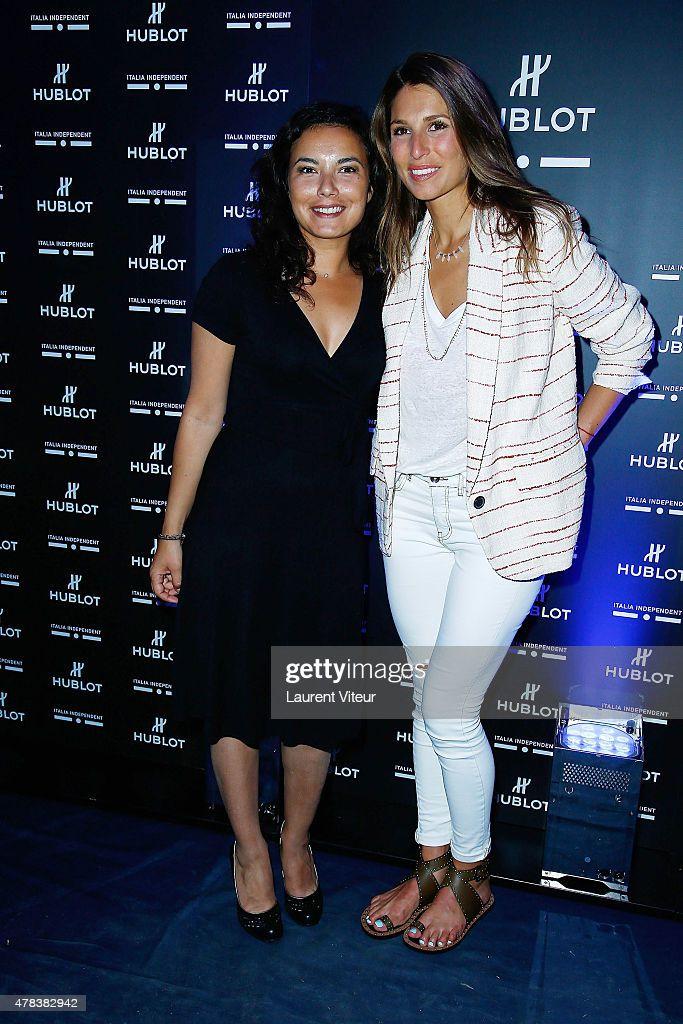 Anaïs Baydemir et Laury Thilleman le 24 juin 2015. Cocktail Party Monsieur Bleu